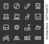 computer components web icon... | Shutterstock .eps vector #207762673