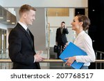 co workers laughing in business ...   Shutterstock . vector #207768517