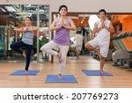 senior people practicing yoga... | Shutterstock . vector #207769273