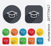 graduation cap sign icon.... | Shutterstock . vector #207775417