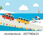 summer illustrated background.... | Shutterstock .eps vector #207780613