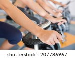 spin class working out in a row ... | Shutterstock . vector #207786967
