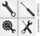 tool icons wrench and... | Shutterstock .eps vector #207800173
