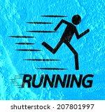running idea in illustration on ... | Shutterstock . vector #207801997