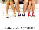 students feet concept with... | Shutterstock . vector #207804307