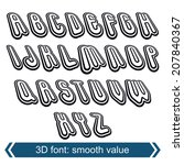 3d retro font in rotation ... | Shutterstock .eps vector #207840367