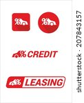 leasing and auto credit icon... | Shutterstock .eps vector #207843157