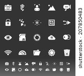 photography sign icons on gray... | Shutterstock .eps vector #207850483