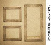 grunge wood frame vector... | Shutterstock .eps vector #207871957