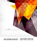 modern 3d glossy overlapping...   Shutterstock .eps vector #207872923