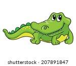kind crocodile  vector...