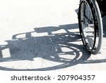 Black Shadow Of The Wheelchair...
