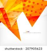 modern 3d glossy overlapping...   Shutterstock . vector #207905623