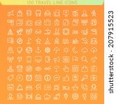 travel line icons for web and... | Shutterstock .eps vector #207915523