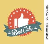 best cafe banner tag | Shutterstock .eps vector #207929383