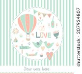 vector vintage wedding... | Shutterstock .eps vector #207934807