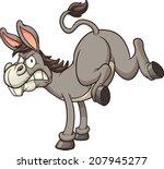 angry donkey kick. vector clip...