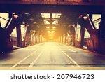 urban style   bridge in city... | Shutterstock . vector #207946723