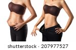 before and after a diet woman | Shutterstock . vector #207977527