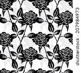 elegant seamless pattern with... | Shutterstock . vector #207984973