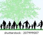 family silhouettes | Shutterstock .eps vector #207999007