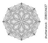 black mandala ornament. element ... | Shutterstock . vector #208014637