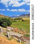 Small photo of The access road to the hospitable estancia. Argentine Patagonia, Perito Moreno National Park