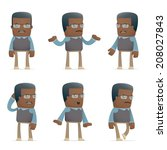 set of teacher character in...   Shutterstock .eps vector #208027843
