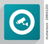 Flat Security Camera Icon ...