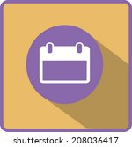 flat vector calendar icon