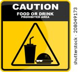 caution with food or drink  | Shutterstock .eps vector #208049173