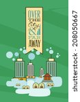 vector illustration with city... | Shutterstock .eps vector #208050667