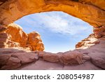 north window in arches national ... | Shutterstock . vector #208054987