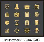 business and financial icons.... | Shutterstock .eps vector #208076683