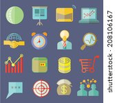 Business Icons  Flat Icons Set