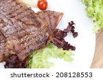 meat food   two grilled steak...