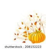illustration of autumn pumpkin...   Shutterstock . vector #208152223