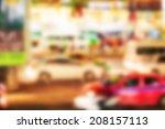 blur traffic in bangkok thailand | Shutterstock . vector #208157113