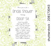 wedding invitation cards with... | Shutterstock .eps vector #208173043
