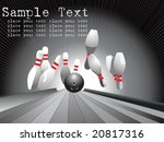 ten pins  bowling  vector... | Shutterstock .eps vector #20817316