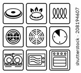 symbols of food grade metal... | Shutterstock .eps vector #208194607