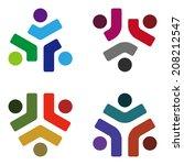 design vector logo element.... | Shutterstock .eps vector #208212547