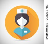 medical treatment nurse symbol...