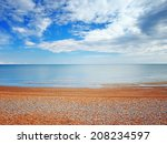 Beach View In Hastings Uk