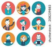 male and female avatars... | Shutterstock .eps vector #208239883