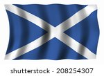 the national flag of scotland | Shutterstock . vector #208254307