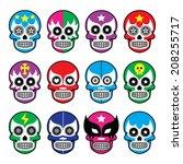 Lucha Libre   Sugar Skull Mask...