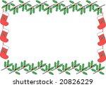 christmas frame | Shutterstock .eps vector #20826229