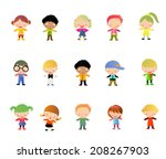 children | Shutterstock .eps vector #208267903