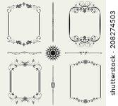 vector set of decorative floral ... | Shutterstock .eps vector #208274503